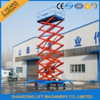 Wholesale 4m - 20m Lifting Height Mobile Scissor Lift Table for Aerial Work / Building Cleaning from china suppliers