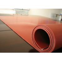 Wholesale Dark Red Heat Resistant Silicone Rubber Sheet Rolls Reinforced To Insert 1PLY Fabric from china suppliers