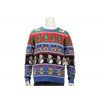 China Long Sleeve Ugly Christmas Sweater With Christmas Trees Feature Patterns For Men for sale