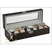 Wholesale Louis Vuitton Damier Graphite 6 Watch Winder Box , Leather Watch Storage 6 Slot Watch Box from china suppliers