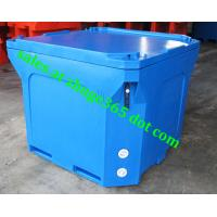Wholesale Rotomolded 800Liter Blue Insulated Fish Container Seafood Processing Insulated Container from china suppliers