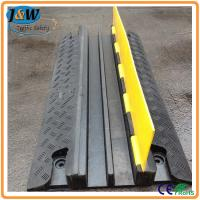 Wholesale Yellow Jacket Rubber Cable Protector Ramp / Cable Cover / Cable Tray 2 Channel from china suppliers