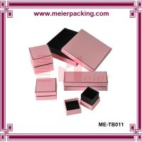 Wholesale CustomPink Paper Jewelry Box/Jewelry Set Box for Necklace, Earring, Ring, Bracelet  ME-TB011 from china suppliers