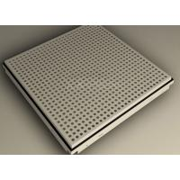 Wholesale Beveled / Square Edge Clip In Ceiling Tiles 600x600 , perforated aluminium panels from china suppliers