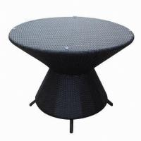 Quality Outdoor Furniture/Round Rattan Table with 5mm Tempered Glass for sale
