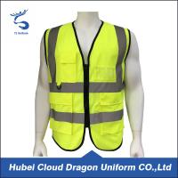 Quality Birdeye Yellow Security Guard Jackets Reflective Vest European Size for sale