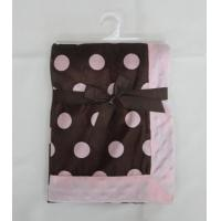 Quality Giraffe Applique Polyester Baby Blanket , Anti - Microbial Newborn Baby Blankets for sale