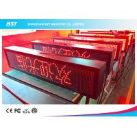 Wholesale Outdoor Waterproof Red Color LED Moving Sign Programmable 10mm Pixel pitch from china suppliers