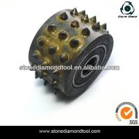 Wholesale 45 grains Bush Hammer Rollers for litchi surface concrete abrasive tools from china suppliers