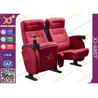 Wholesale Luxury 3d Theater Cinema Chair / Sponge + Fabric + Steel Movie Seat from china suppliers
