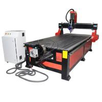 Wholesale 4*8 Feet 4 Axis Wood CNC Router with Underneath Rotary Axis/Mach3 Control from china suppliers
