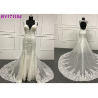 Quality Lace Backless A Line Wedding Dress / Gorgeous Sweetheart A Line Wedding Dress for sale