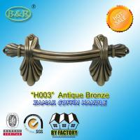 Wholesale Ref No H003 zamak Metal Coffin Handles size 22.5*10.5 Shell shape color antique bronze from china suppliers