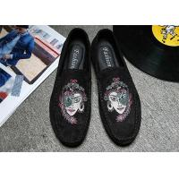 Quality Embroidered Loafers Leisure Comfort Driving Custom Logo Gray Black Crushed for sale
