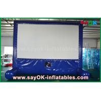Wholesale Blue Inflatable Outdoor Movie Screen Customized for Advertising / Party / Event from china suppliers