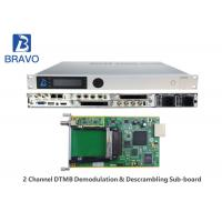 MPEG - 2 DVBS Professional HD Receiver Convert RF Signals Into Audio Video