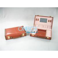Wholesale Travel Cosmetic Packaging Boxes Leather Makeup Case With Mirror from china suppliers