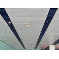 Wholesale Artistic Eco-friendly Indoor Decoration Aluminum Suspended Strip Ceiling Panel Beveled Edge from china suppliers
