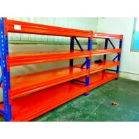 Wholesale Blue / Orange Cold Rolled Heavy Duty Pallet Racking With Long Span from china suppliers