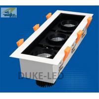 Wholesale Lustrous LED Recessed Downlights CRI Ra 83 Triple Spotlights Rectangular Aperture from china suppliers
