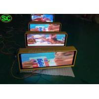 Wholesale P10 1R1G1B Single Color Red taxi led sign 3G Control Super Clear Vision from china suppliers