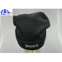 Quality Winter Custom Knit Acrylic Adult Mens Beanie Hats With Embroidery Customized for sale