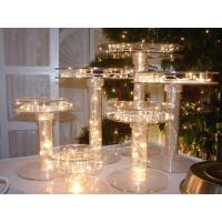 Wholesale Unique Tiered Lighted Acrylic Cupcake Stand For Party , Custom Size from china suppliers