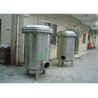 China Stainless Steel Bag Filter Vessel Tank With SS304 / SS316 Material For Filtration System on sale