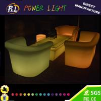 Wholesale Color Changing Plastic LED Single Lounge Sofa Sets from china suppliers