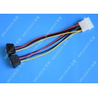 Wholesale Computer Molex 4 Pin To 2 x15 Pin SATA Data Cable Right Angle Pitch 5.08mm from china suppliers