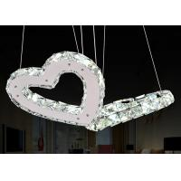 Wholesale Conference Room Modern Glass Chandeliers / 25W LED Heart Shaped Chandelier Contemporary Style from china suppliers