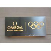 Wholesale 304 Stainless Steel Signs Back Illuminated Signs , Free Design from china suppliers