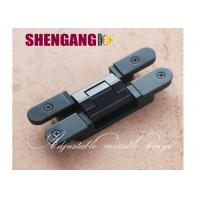 Wholesale 40kg Flush Door Adjustable Concealed Hinges Black Color Hinge Zamak Die Casting Loops from china suppliers