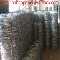 Wholesale hot dipped galvanized or PVC coated double twist  barbed wire/Hot Dip Galvanized Barbed Wire Price Per Roll from china suppliers