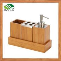 Wholesale China LED Lighting /Bamboo Bathroom Set Bathroom Accessories Bamboo Soap Dispensor from china suppliers
