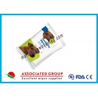 Wholesale Cat Pet Cleaning Wipes , Anti Allergy Cat Wipes For Dander No Soap from china suppliers
