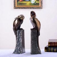 Wholesale Bookends with lovely Birds, horses and other ornaments coated in bronze, brass that can be oxidized / green bronze from china suppliers