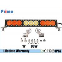 """Wholesale 17"""" 90W Amber White Led Driving Light Bar Single Row 12V 24V Auto Available from china suppliers"""