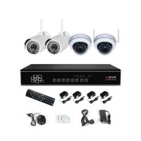 Wholesale 1080P 4 Channel Wireless NVR Kits Combined Packages CCTV Systems from china suppliers