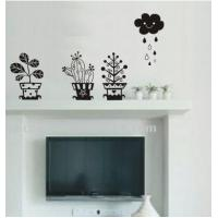 Wholesale Environmental PVC Decorative Wall Sticker A0181 Flower Home Decoration from china suppliers