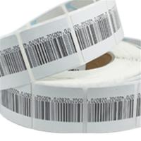 Wholesale High detection rate round customized cloth Soft label with barcode printing from china suppliers