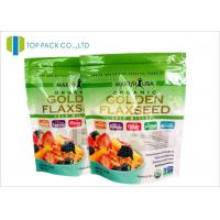 Buy cheap Glossy Plastic Stand Up Bag Zipper Closure Organic Food Clear Window from wholesalers