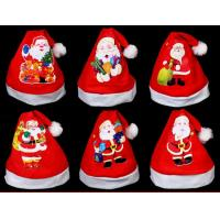 Wholesale Red Christmas Hat For Gift Plush Hat  For Christmas Party,Printing Santa Claus from china suppliers