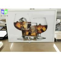 Wholesale Single Sided White Snap Frame LED Light Box Illuminated Energy Saving from china suppliers