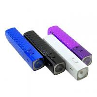 Wholesale LED Torch ABS Square Rechargeable Mobile Power Pack 2600 mAh USB Charger from china suppliers