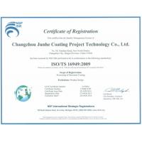 Changzhou Junhe Technology Stock Co.,Ltd Certifications