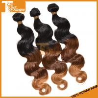 Wholesale Hot Selling New Ombre Hair Weft Grade 6A Brazilian Peruvian Malaysian Indian Hair Color 1B/4/27# Body Wave Hair Weaving from china suppliers