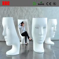 Wholesale Funny Fiberglass Mask Arm Chair Patio Fiberglass Outdoor Mask Chair Back Rest Leisure Mask Chair from china suppliers