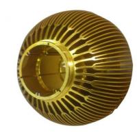 Wholesale Gold Bowl Shape Aluminum Heat Sinks With Automatic Fin Wearing / Assembly from china suppliers
