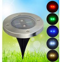 Wholesale New design 2pcs brightness led solar ground light,outdoor waterproof solar deck light from china suppliers